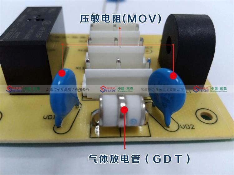 压敏电阻为限压型器件,当两端施加工作电压时阻值很高,漏电流为μA级。随着端电压升高,压敏电阻阻值降低,端电压超过一定值后阻值急剧降低,漏电流可高达20~40KA,形成雷电泄放通道。当电压降低至工作电压后,压敏电阻的漏电流迅速减小,恢复原来状态。  常用压敏电阻特性 直流开关电源常用的压敏电阻主要参数如下: Uc:最大持续工作交流电压,一般为385V。